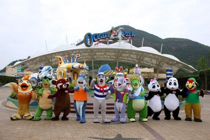 Ocean Park, em Hong Kong. Imagem: Wikimedia Commons.