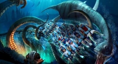Kraken Unleashed: a montanha russa com realidade virtual do Sea World