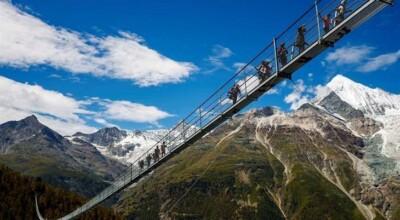 Ponte suspensa mais longa do mundo é aberta na Suiça